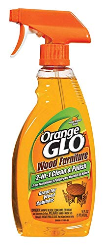 Orange Glo Wood Furniture 2-in-1 Cleaner & Polish, 16 ounces (4)