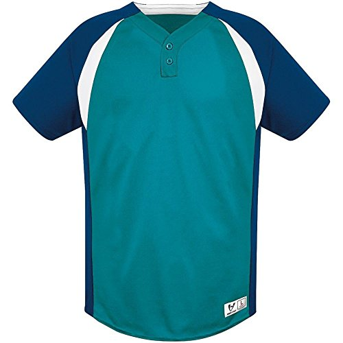 High Five Gravity Two Button Jersey - Adult,Teal/Navy/White,Medium
