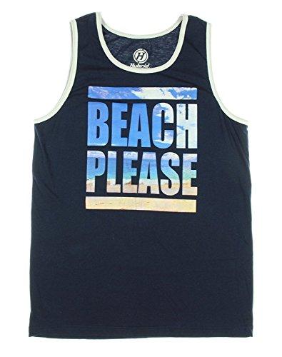 Beach Please Graphic Tank Top - Large (Beach Top)