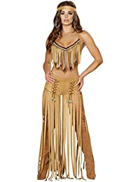 Sexy Floor Length Fringe Feather Indian Girl Halloween Costume