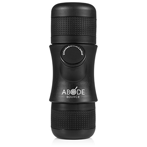 Abode Source – Portable Single Shot Mini Espresso Maker – Compact Travel Size – Easy to Use for Delicious Espresso Coffee Anywhere