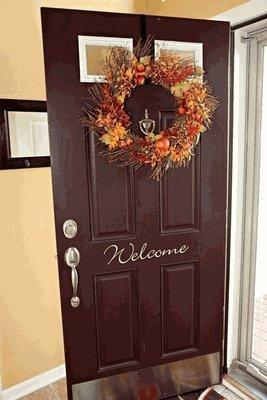 Welcome Front Door Vinyl Wall Decal-Decal Color-White & Amazon.com: Welcome Front Door Vinyl Wall Decal-Decal Color-White Pezcame.Com