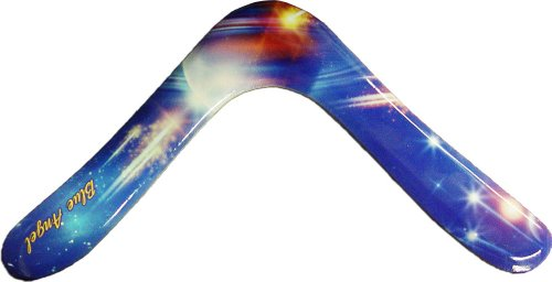 Blue Angel Wooden Boomerangs - Outer Space Edition - For Kids 8-14! Small and Light for Little Throwers! by Colorado Boomerangs