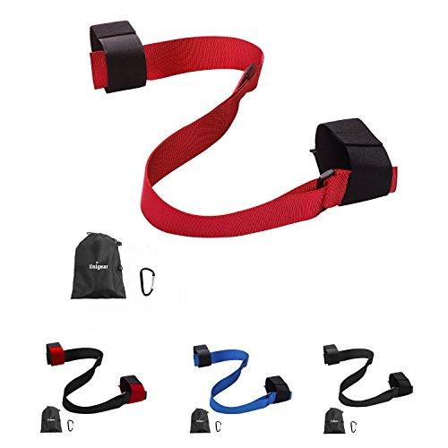Unigear Ski Shoulder Carrier Straps Compatible for Snow Skis and Poles (Red+Black)