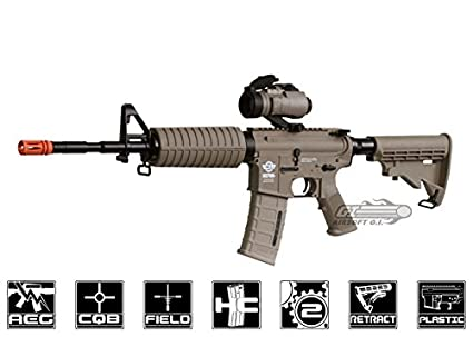 Amazon com : combat machine m16 carbine aeg airsoft gun ( m4
