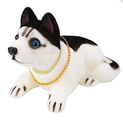 Sedeta Hanbaili Huskie Bobbing Nodding Nodder Moving Bobble Head Dog Car Home Interior Decor Doll Toy Lovely Soft Plush Bob