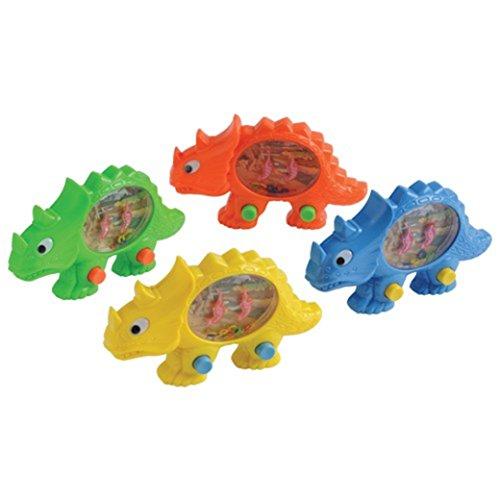 Dozen Assorted Dinosaur Theme Handheld Push Button Water Games by US Toy