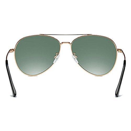 MOACC Aviator Sunglasses Polarized HD Sun Glasses UV 400 for Men Women Metal Frame Fashion Motorcross Eye Glasses (Green)