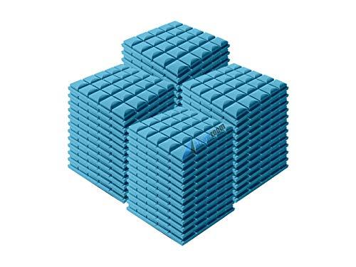 Arrowzoom Super Dash (96 Pack) of 50 X 50 X 5 cm Baby Blue Tegular Hemisphere Grid Type Acoustic Home Studio Soundproof…