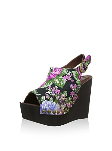 Flower Blau Damen mit Plateau Sohle Sandale Jeffrey Campbell Snick Schwarz Z0pqUvFxnw