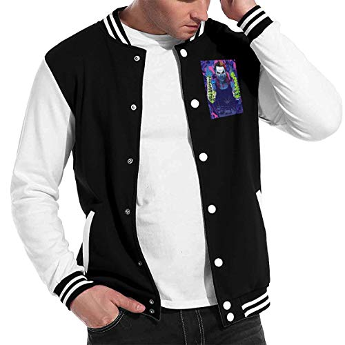 ASDONES Mens Baseball Uniform Jacket Sport Coat JeffHardy Cotton Sweater -
