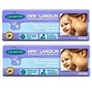 Lansinoh HPA Lanolin for Breastfeeding Mothers, 40 Grams (Pack of 2; 80 Grams Total) by Lansinoh