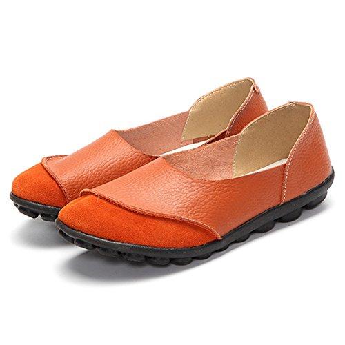 Primavera y Casual Slip Ons Segundo Verano mujer Mocasines de de planos SHINIK Zapatos mocasines cuero Xq4ZZ7