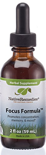 Focus Formula, Memory and Mood Herbal Supplement, Native Remedies, 2fl Oz (59ML)