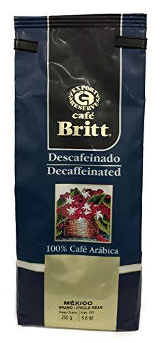 Britt Café Descafeinado Grano de México, 250 g