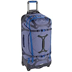 Eagle Creek Gear Warrior Rolling Duffel Bag. This luggage offers ample room with 110 liters of packing space and organized storage. Featuring water resistant material, versatile carrying straps and the option to transport on two wheels, this...