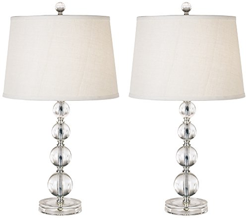 Herminie Stacked Ball Acrylic Table Lamp Set of 2 - Acrylic Ball Table Lamp