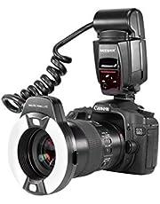 Neewer Flash Macro Ring Light con Luce di Assistenza AF per Canon EOS 5D Mark II EOS 6D EOS 7D EOS 70D EOS 60D EOS 60Da EOS 700D 650D 600D 400D 350D 300D 100D 1000D 1100D Rebel T5i T4i T3i Xti XT SL1 XS T3