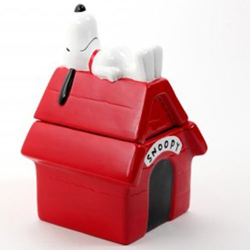 Peanuts Snoopy Hand Painted Dog House Cookie Jar by Gibson (Dog House Cookie)
