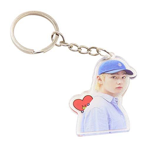 Cartoon Keychain - Hosston Cute Cartoon Kpop BTS Bangtan Boys Keychain Key Ring Metal Acrylic Keychain Hot Gift for A.R.M.Y(Style 46-V)