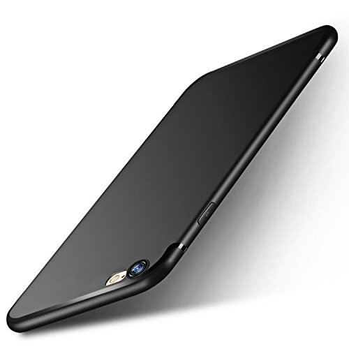 otumixx iPhone 6s Handyhülle, iPhone 6 Schutzhülle Ultra Dünn Soft Silikon Schutzhülle iPhone 6 Bumper Case Kratzfest Stoßfest Anti Fingerabdruck Silikon Hülle für iPhone 6s Case Cover- Schwarz otu-ip6srh