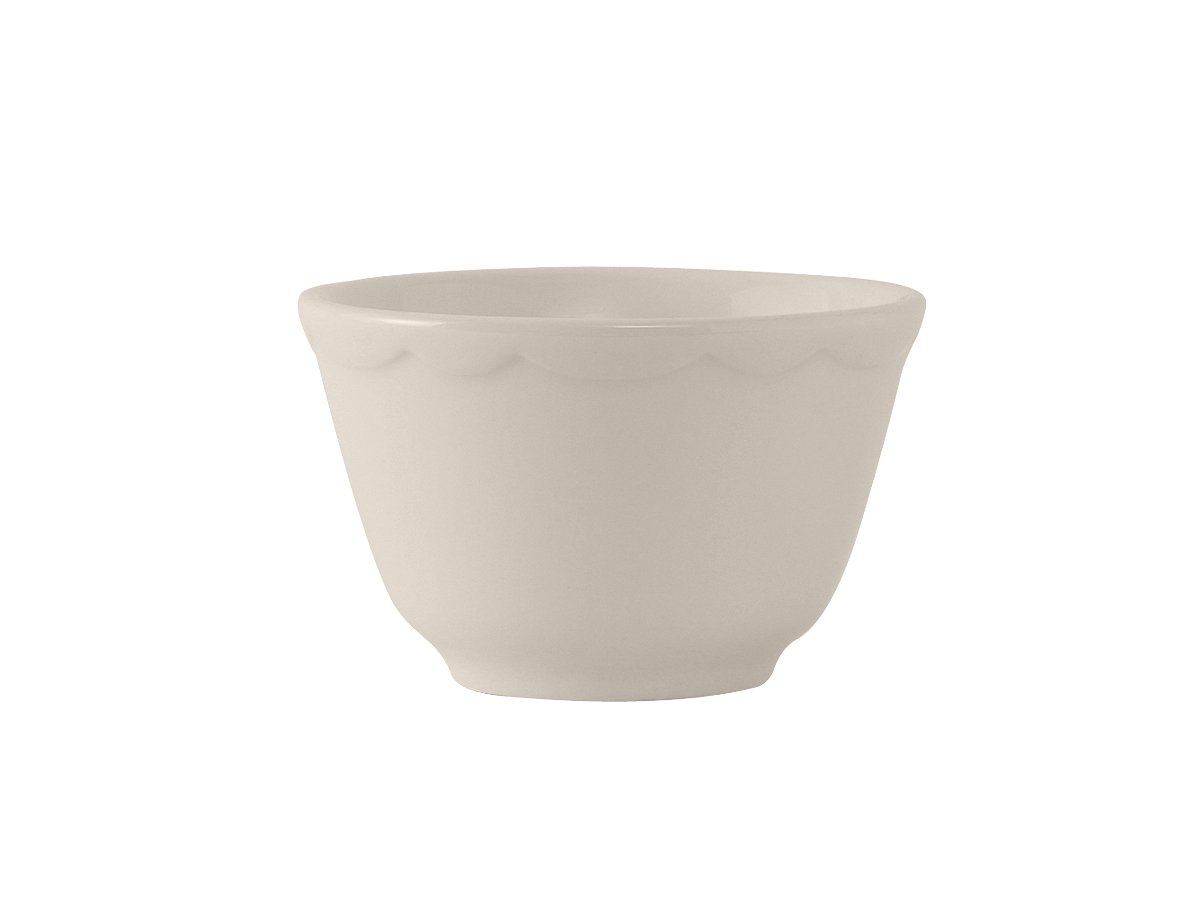 Tuxton TSC-004 Vitrified China Shell Bouillon, Scalloped, 7 oz, 3-7/8'', Eggshell (Pack of 36),