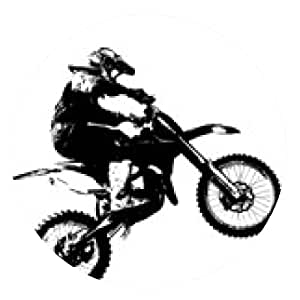 alfombrilla de ratón Jinete participa del campeonato de motocross. Ilustración del vector. - ronda - 20cm
