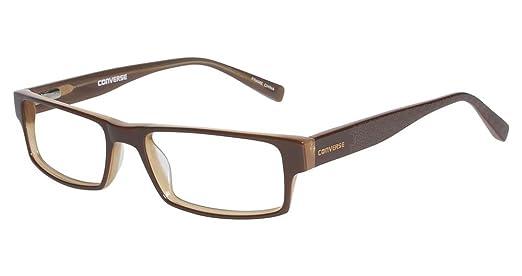 0d8f6c41833c Amazon.com: Converse Eyeglasses Newsprint Brown Optical Frame: Clothing