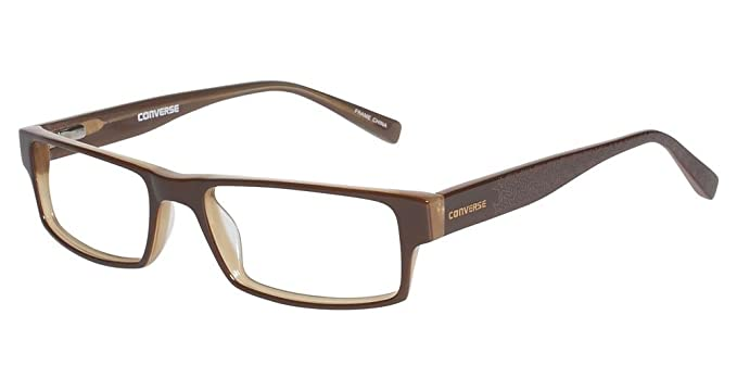 096bc890100b Image Unavailable. Image not available for. Color: Converse Eyeglasses  Newsprint Brown Optical Frame