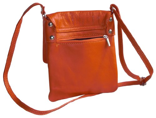 Includes Made Soft Handbag Hand Orange a Body Shoulder Storage Branded or Italian Cross and Messenger Leather Bag Medium Small Small Protective Bag dtq1O6w