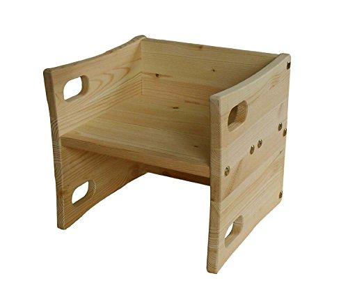 Funktioneller mitwachsender Wendehocker für Baby + Kleinkind Massivholz geölt, aus nachhaltiger Forstwirtschaft, in Deutschland gefertigt