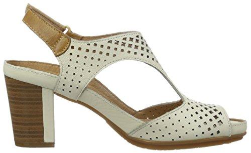 Pikolinos Damen Java W0k_v17 Offene Sandalen mit Keilabsatz Weiß (NATA)