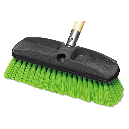 Rubbermaid Commercial 10 Inch, Threaded or Tapered Window/Car Washing Brush, Nylon Fill, Green (FG9B7200GRN)