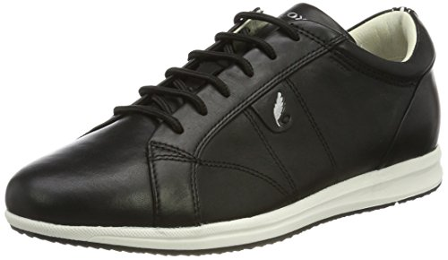 Noir Femme Sneakers Avery A Basses Geox Black qxAPpfq