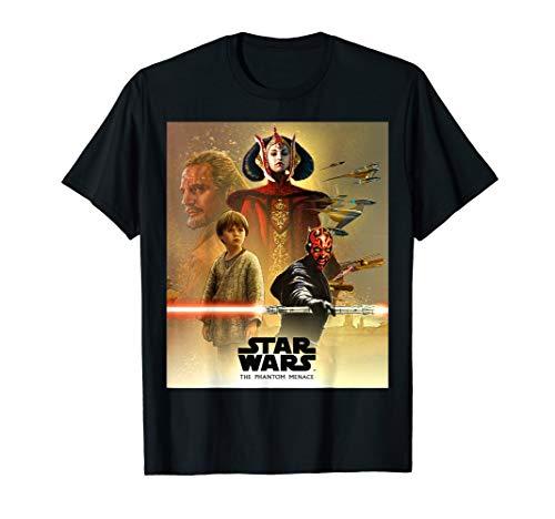 - Star Wars Celebration Mural The Phantom Menace Logo T-Shirt