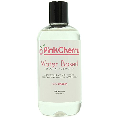 PinkCherry Water Based Personal Lubricant in 8 Ounces Unscented Unflavored Non-Staining