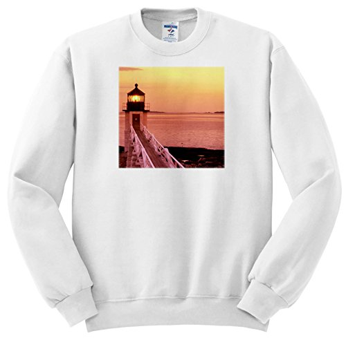 3dRose Danita Delimont - Lighthouses - Marshall Point Light, Port Clyde, Maine at Sunset - Sweatshirts - Adult Sweatshirt 3XL (ss_279018_6)