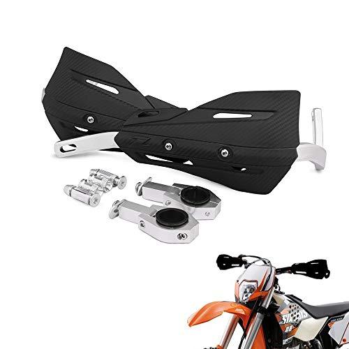 22mm and 28mm Aluminum Motocross Hand Guards with Universal Mounting Kits For Honda Yamaha Kawasaki Suzuki KTM Dirt Bike Motorcycle MX Supermoto Racing ATV Quad KAYO (Black)