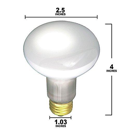 Pack Of 6 E26 Base 30W 30 Watt R20 Flood Light Bulbs KOR 30R20//FL 120V