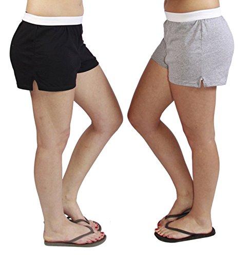 Jerzees Juniors Pack of 2 womens gym/running/yoga/cheer shorts
