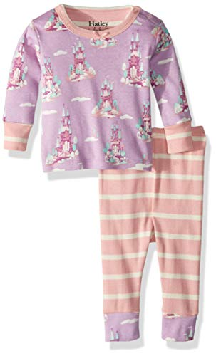 (Hatley Baby Girls Organic Cotton Pajama Sets, Castles in The Sky 9-12 Months )