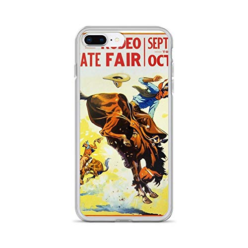 iPhone 7 Plus/8 Plus Pure Clear Case Cases Cover Vintage 1930s Rodeo Poster Restored ()