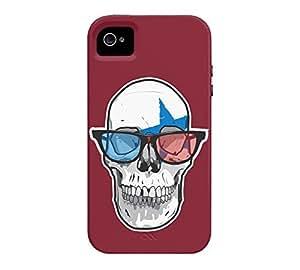 3D Star Punk iPhone 4/4s Antique ruby Tough Phone Case - Design By Humans wangjiang maoyi