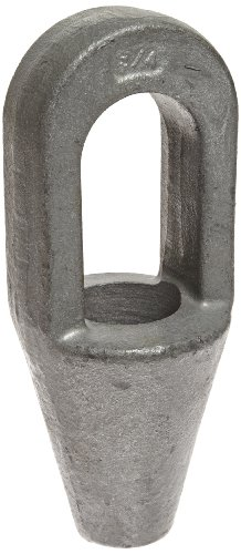 Indusco 78700021 Hot Dipped Drop Forged Galvanized Steel Closed Spelter Socket, 3/4