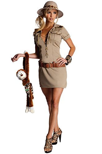 Secret Wishes Womens Tarzan Hunter Jane Costume, Khaki,