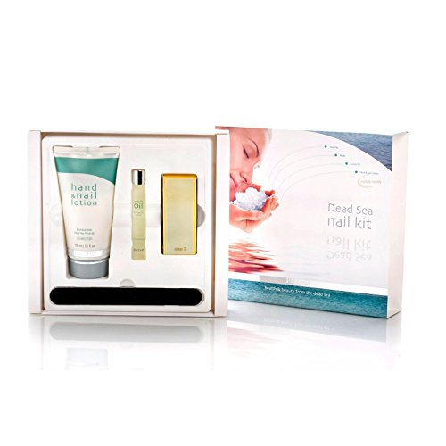 - Jericho Cosmetics Nail Care Kit with Minerals from the Dead Sea - Nail Care Set Includes: Cuticle Oil, Mineral-Based Hand Cream, Nail File and Buffer (Ocean Breeze)