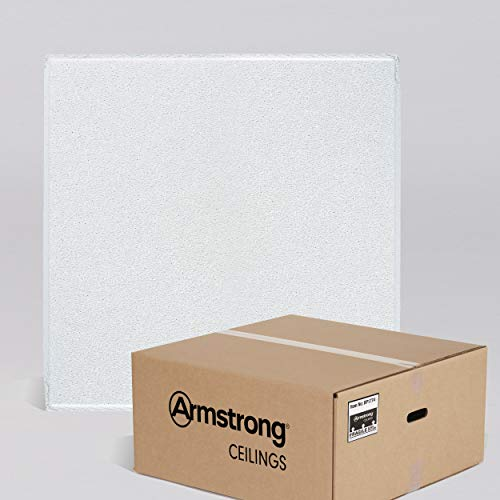 Armstrong Ceiling Tiles; 2x2 Ceiling Tiles - HUMIGUARD Plus Acoustic Ceilings for Suspended Ceiling Grid; Drop Ceiling Tiles Direct from the Manufacturer; DUNE Item 1774 - 16pcs White Tegular