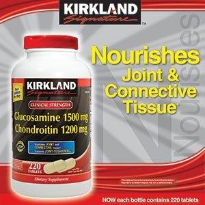 Kirkland SignatureTM Extra Strength Glucosamine / chondroïtine sulfate de glucosamine HCl 1500 mg / chondroïtine sulfate 1200 mg 220 Comprimés