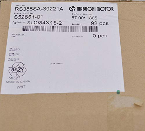 Fetcus RS385 RS-385 dc Carbon Brush Motor,DIY Hair Dryer 6-12V Motor RS-385SA-1885