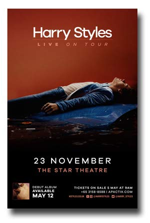aedf934dc614c Amazon.com: Harry Styles Poster Concert Promo 11 x 17 inches Star ...